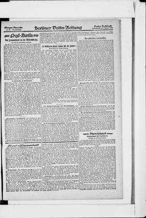 Berliner Volkszeitung vom 23.02.1918