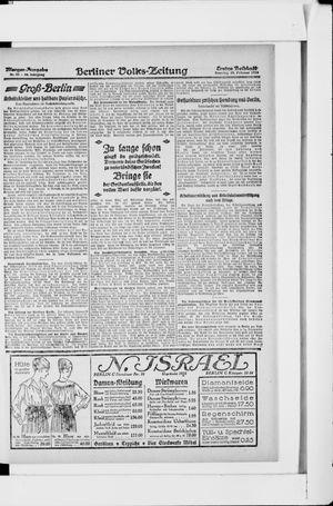 Berliner Volkszeitung vom 24.02.1918