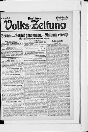 Berliner Volkszeitung vom 25.02.1918