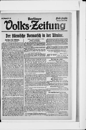 Berliner Volkszeitung vom 26.02.1918