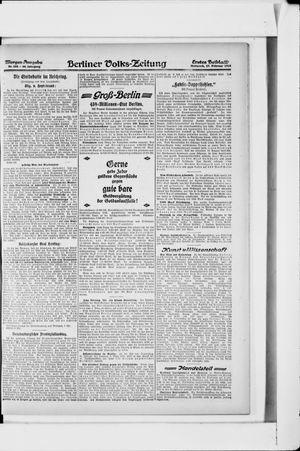 Berliner Volkszeitung vom 27.02.1918