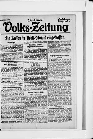 Berliner Volkszeitung vom 28.02.1918