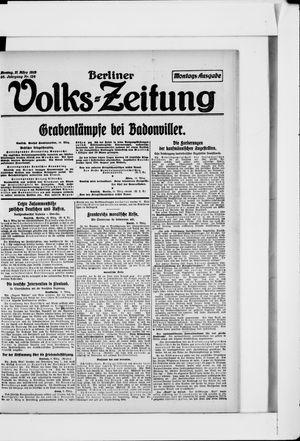Berliner Volkszeitung vom 11.03.1918