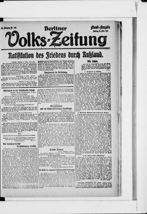 Berliner Volkszeitung vom 18.03.1918