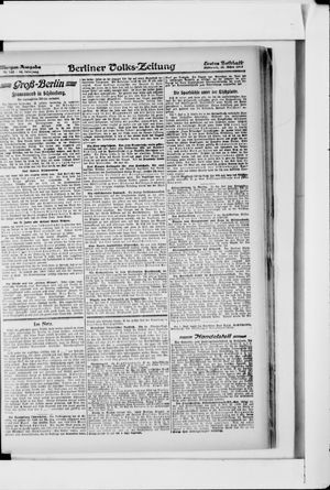 Berliner Volkszeitung vom 20.03.1918
