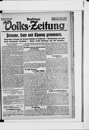 Berliner Volkszeitung vom 25.03.1918