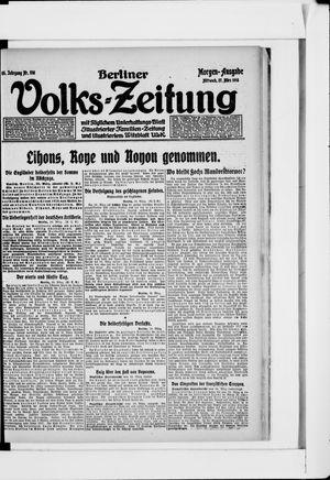 Berliner Volkszeitung vom 27.03.1918
