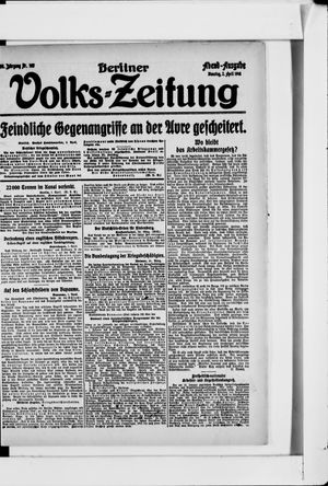 Berliner Volkszeitung vom 02.04.1918