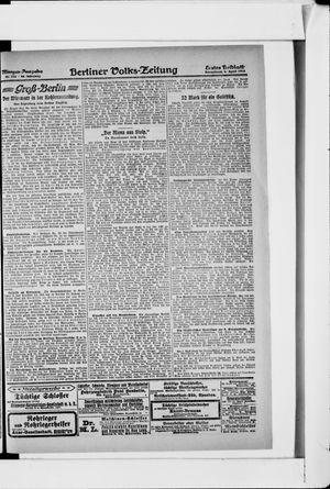 Berliner Volkszeitung vom 06.04.1918