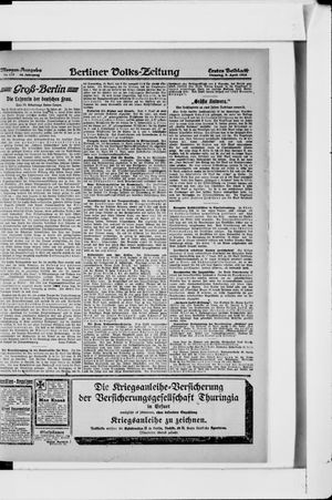 Berliner Volkszeitung vom 09.04.1918