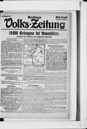 Berliner Volkszeitung vom 11.04.1918
