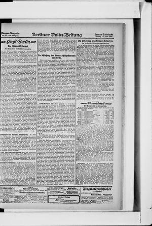 Berliner Volkszeitung vom 12.04.1918