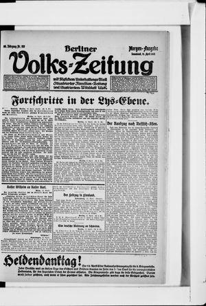 Berliner Volkszeitung vom 13.04.1918