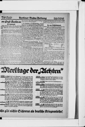 Berliner Volkszeitung vom 14.04.1918