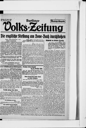 Berliner Volkszeitung vom 15.04.1918