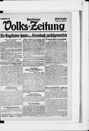 Berliner Volkszeitung on Apr 18, 1918