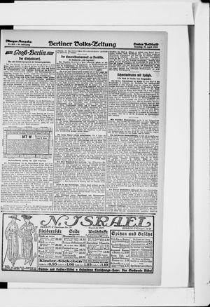 Berliner Volkszeitung vom 21.04.1918
