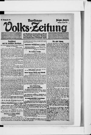 Berliner Volkszeitung vom 23.04.1918