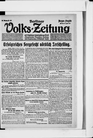 Berliner Volkszeitung vom 24.04.1918