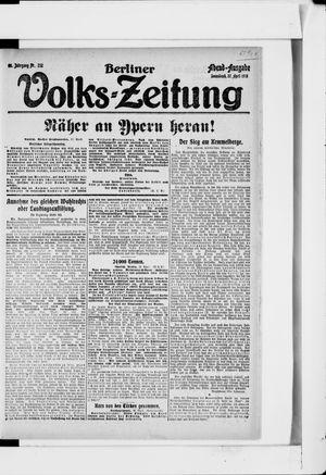 Berliner Volkszeitung on Apr 27, 1918