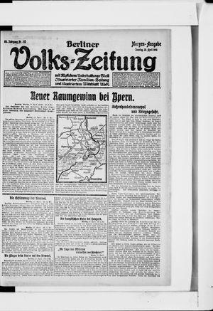 Berliner Volkszeitung vom 28.04.1918