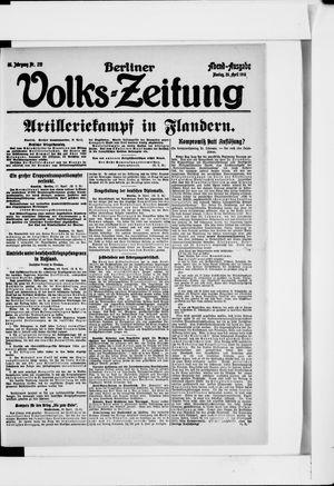 Berliner Volkszeitung vom 29.04.1918
