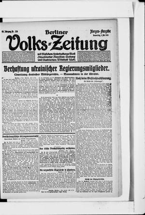 Berliner Volkszeitung vom 02.05.1918
