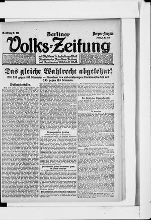 Berliner Volkszeitung vom 03.05.1918