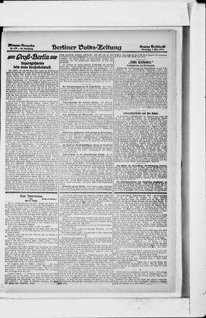 Berliner Volkszeitung on May 7, 1918