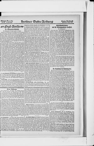 Berliner Volkszeitung vom 08.05.1918