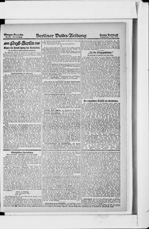 Berliner Volkszeitung on May 9, 1918