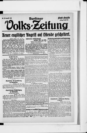 Berliner Volkszeitung on May 10, 1918