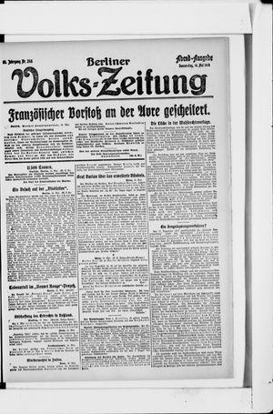 Berliner Volkszeitung on May 16, 1918