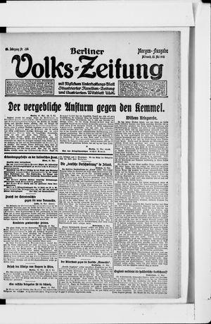 Berliner Volkszeitung vom 22.05.1918