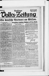 Berliner Volkszeitung (21.10.1918)