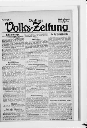 Berliner Volkszeitung vom 02.01.1919