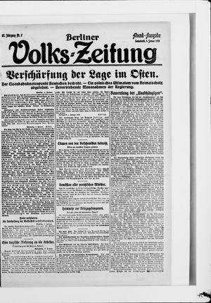 Berliner Volkszeitung vom 04.01.1919