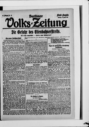 Berliner Volkszeitung vom 14.01.1919