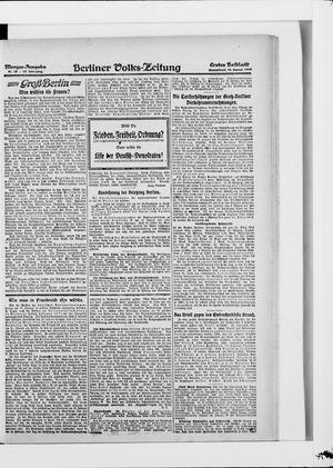 Berliner Volkszeitung vom 18.01.1919