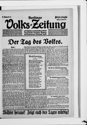 Berliner Volkszeitung on Jan 19, 1919