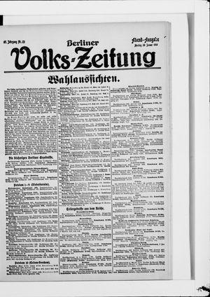 Berliner Volkszeitung vom 20.01.1919