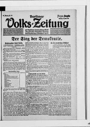 Berliner Volkszeitung vom 21.01.1919
