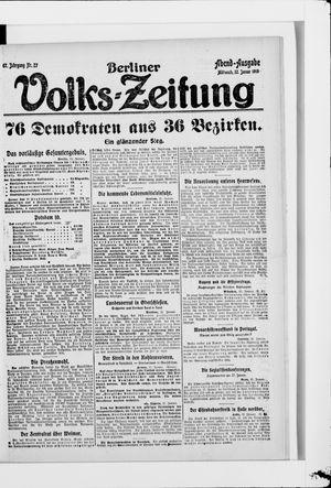 Berliner Volkszeitung vom 22.01.1919