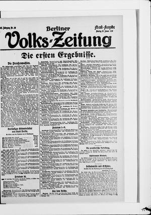 Berliner Volkszeitung vom 27.01.1919