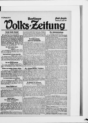 Berliner Volkszeitung vom 30.01.1919