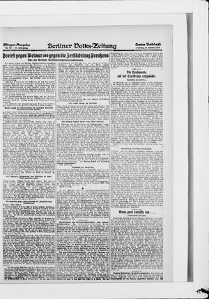 Berliner Volkszeitung vom 31.01.1919