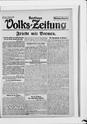 Berliner Volkszeitung vom 03.02.1919