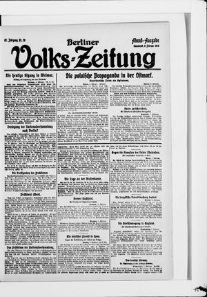 Berliner Volkszeitung vom 08.02.1919