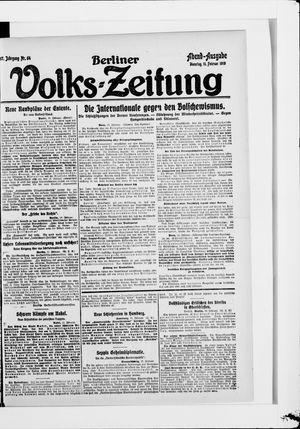 Berliner Volkszeitung vom 11.02.1919