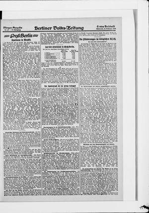 Berliner Volkszeitung vom 12.02.1919